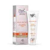 Roc Soleil-Protect Fluido Iluminador Anti-Edad SPF 50 obtendrás una piel más joven.