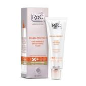 Roc Soleil-Protect Fluido Reductor De Arrugas SPF 50 máxima protección para tu rostro.