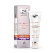 Roc Soleil-Protect Fluido Unificante Anti-Manchas SPF50+ reduce las manchas oscuras.