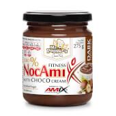 NocAmix Crema de Chocolate Negro no contiene azúcares añadidos ni conservantes.
