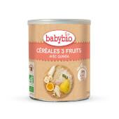 BABYBIO CEREALES 3 FRUTAS - A partir de 6 meses