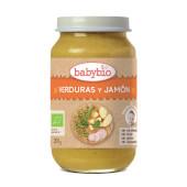 Babybio Potito Menú del Día Verduras y Jamón de origen ecológico.