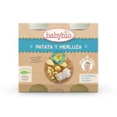 Babybio Menú del Día Patatas y Merluza está elaborado con ingredientes biológicos.