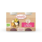 BABYBIO DELICIAS DE FRUTAS - Puré de fruta ecológica