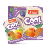 Vitabio Cool Fruits Manzana, Mango y Piña + Acerola puré de fruta para llevar.