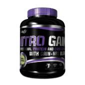 Nitro Gain de Biotech USA es un subidor de peso a base de proteínas y carbohidratos.
