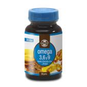 OMEGA 3,6 y 9 1000mg contiene aceite de pescado, de lino y onagra.