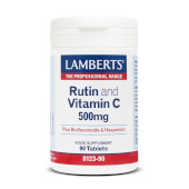Rutina y Vitamina C 500mg + Bioflavonoides, antioxidante y aporta beneficios a la salud.