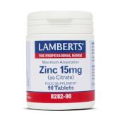 Zinc 15mg de Lamberts proporciona zinc de fácil absorción.
