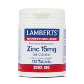ZINC 15mg - LAMBERTS - A base de citrato de zinc