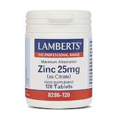 ZINC 25mg - LAMBERTS - A base de citrato de zinc