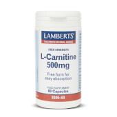 L-CARNITINA 500mg - LAMBERTS - Ideal para perder peso