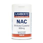 NAC (N-Acetil Cisteína) 600mg tiene un gran poder antioxidante.