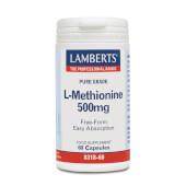 L-METIONINA 500mg - LAMBERTS - Forma libre, alta absorción