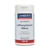 L-Fenilalanina 500mg - Lamberts - Forma libre, máxima absorción