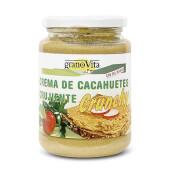 Crema de Cacahuete Crujiente de Granovita está elaborada con sal marina.