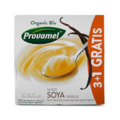 Provamel Soja Dessert Vanilla Bio (3 + 1 Gratis) es un postre saludable 100% vegetal.