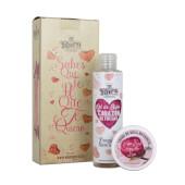 Gel de Baño Corazón Fresa + Crema  Rosa Mosqueta - Mi Rebotica