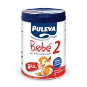 Puleva Bebé 2 es una leche de continuación indicada para bebés a partir de los 6 meses.