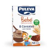 PULEVA BEBÉ PAPILLA 8 CEREALES CON CACAO FOS 500g