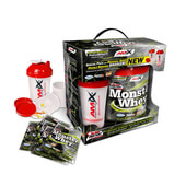 MONSTER WHEY PROTEIN 2000g + 6x33g + Shaker - AMIX NUTRITION
