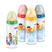 BIBERON FIRST CHOICE BARRIO SESAMO SILICONA 0-6 M 300ml - NUK