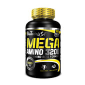 MEGA AMINO 3200 - 100 Tabs - BIOTECH USA
