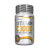 VITAMIN C 1000 WITH BIOFLAVONOIDS 100 Tabs - BIOTECH USA