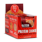 PROTEIN COOKIES CHOCOLATE BLANCO MANTEQUILLA CACAHUETE 12 x 80g - BUFF BAKE