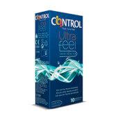 Control Ultra Feel preservativo con máximo contacto y sensibilidad.