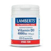 VITAMIN D3 4000iu 120 Caps - LAMBERTS