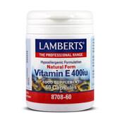 VITAMIN E 400iu 60 Caps - LAMBERTS