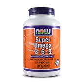 SUPER OMEGA 3-6-9 1200mg - 180 Softgels - NOW FOODS