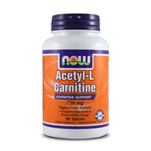 ACETYL L-CARNITINE 750mg 90 Tabs - NOW FOODS