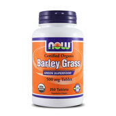 ORGANIC BARLEY GRASS 500mg 250 Tabs - NOW FOODS