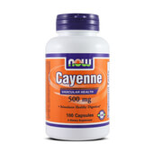 CAYENNE 500mg 100 Caps - NOW FOODS