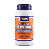 NATURAL RESVERATROL 50mg 60 VCaps - NOW FOODS