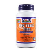 ORGANIC RED YEAST RICE 600mg 60 VCaps - NOW FOODS