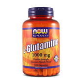 L-GLUTAMINE 1000mg 120 Caps - NOW SPORTS