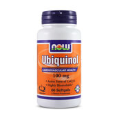 UBIQUINOL 100mg 60 Softgels - NOW FOODS