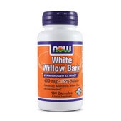 WHITE WILLOW BARK 400mg 100 Caps - NOW FOODS