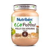 ECOPOTITOS POLLO CON VERDURAS SELECTAS 130g - NUTRIBEN