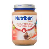 POTITOS POLLO Y TERNERA CON VERDURAS 200g - NUTRIBEN
