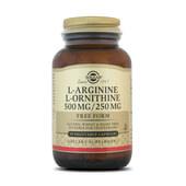 L-ARGININE / L-ORNITHINE 500 / 250mg - SOLGAR