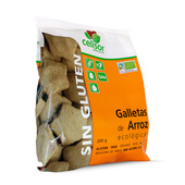 GALLETAS DE ARROZ ECOLOGICAS SIN GLUTEN 200g - SORIA NATURAL