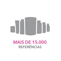 Mais de 15.000 referências